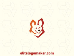 Abstract logo with a refined design forming a fox with brown and orange colors.