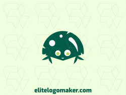 Create your online logo in the shape of an alien with customizable colors and childish style.
