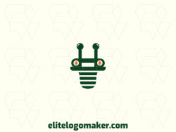 Customizable logo in the shape of an alien with creative design and abstract style.
