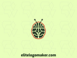 Create a logo for your company in the shape of an alien combined with a brain with a symmetric style.