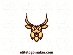 Professional logo in the shape of an antelope, with creative design and minimalist style.