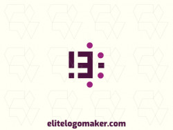 """Customizable logo in the shape of a letter """"B"""", with creative design and initial letter style."""