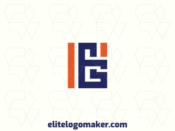 """Customizable logo in the shape of a letter """"B"""" combined with a letter """"G"""", with creative design and abstract style."""