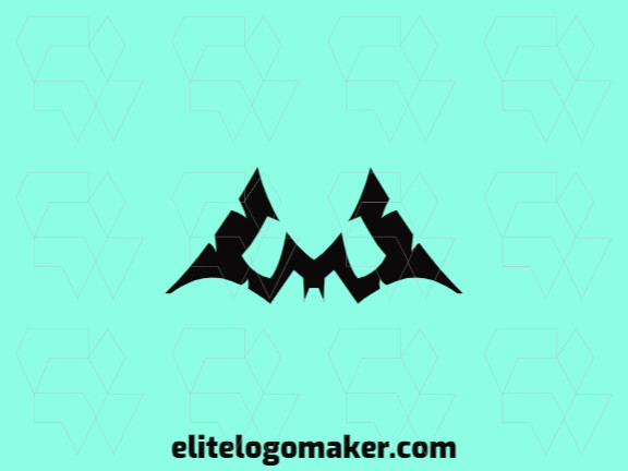"""Create a memorable logo for your business in the shape of a bat combined with a letter """"m"""" with simple style and creative design."""