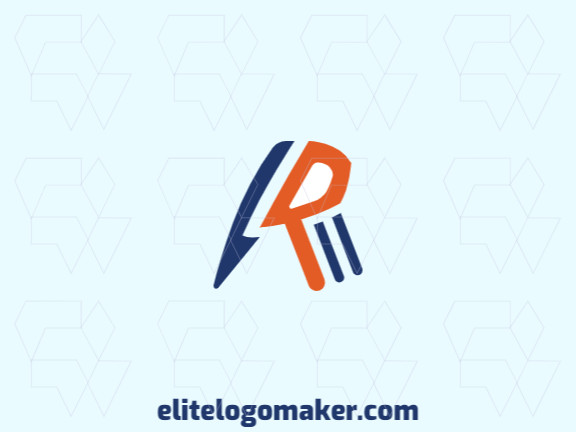 """Abstract logo in the shape of a bird combined with a letter """"R"""" with creative design."""