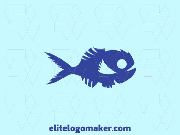 Exclusive logo in the shape of a fish with a creative concept and abstract design.