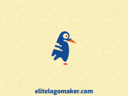 Logo ready in the shape of a bluebird composed of creative design and simple style.