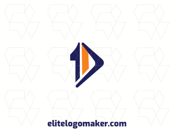 """Logo available for sale in the shape of a boomerang combined with a """"10"""", with abstract design."""