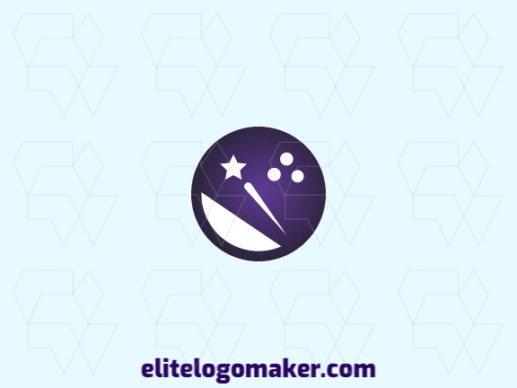 Logo design with the illustration of a bowling ball combined with a star with a unique design and gradient style.
