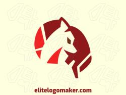 Logotipo criativo com a forma de um cérebro combinado com uma raposa com design memorável e estilo duplo sentido, as cores utilizadas é laranja e vermelho.