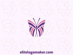 Modern logo in the shape of a butterfly with professional design and simple style.