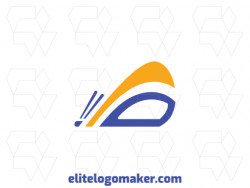 """Memorable logo in the shape of a butterfly combined with a letter """"B"""", with abstract style and customizable colors."""