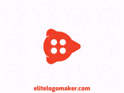 Create a logo for your company in the shape of a button combined with a play icon.