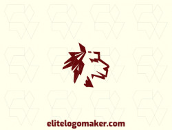 Vector logo in the shape of a camel head with an abstract design, the color used was brown.