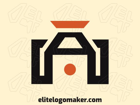 Logotipo moderno grátis com a forma de uma câmera combinado com uma caixa com design profissional e estilo minimalista.