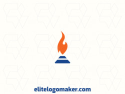 Memorable logo in the shape of a candle with a minimalist style, and customizable colors.