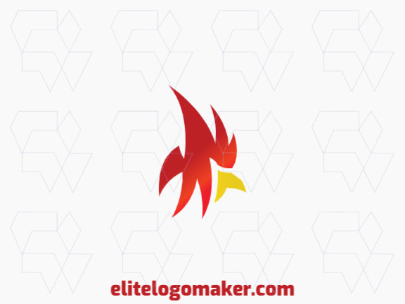 Create your online logo in the shape of a cardinal, with customizable colors and gradient style.