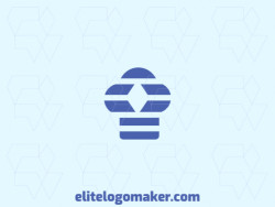 Exclusive logo in the shape of a chef hat, with abstract design and blue color.