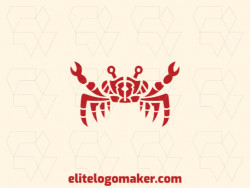 Great logo in the shape of a crab with symmetry design, easy to apply in different media.