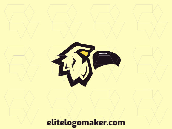 Ideal logo for different businesses in the shape of a crow, with creative design and illustrative style.