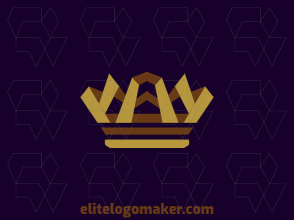 Ideal logo for different businesses in the shape of a crown, with creative design and abstract style.