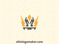 Create your online logo in the shape of a crown with customizable colors and abstract style.