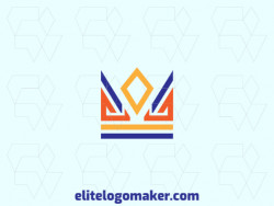 Modern logo in the shape of a crown with professional design and symmetric style.