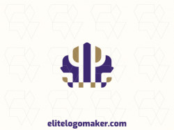 Customizable logo in the shape of a crown, with creative design and symmetric style.