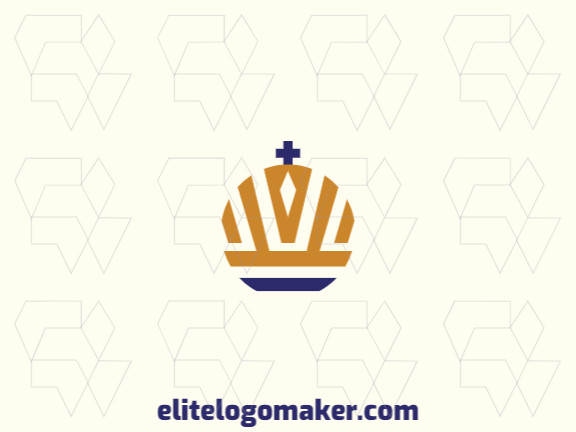 Create an ideal logo for your business in the shape of a crown, with abstract style and customizable colors.
