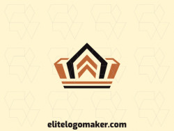 Create your online logo in the shape of a crown combined with arrows with customizable colors and simple style.