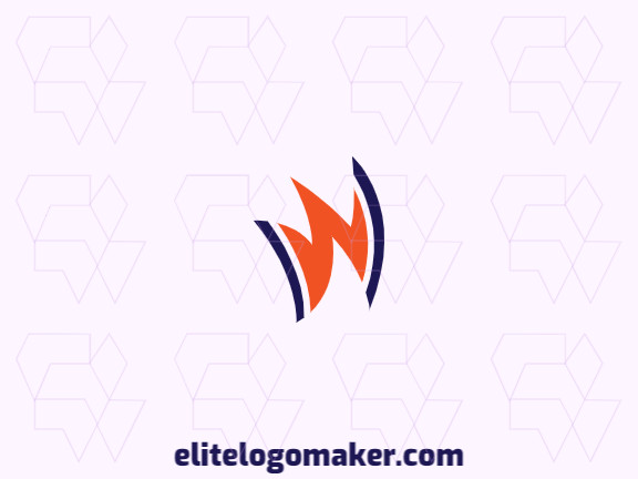 """Exclusive logo for sale, in the shape of a crown combined with a letter """"W"""", the colors used was blue and orange."""