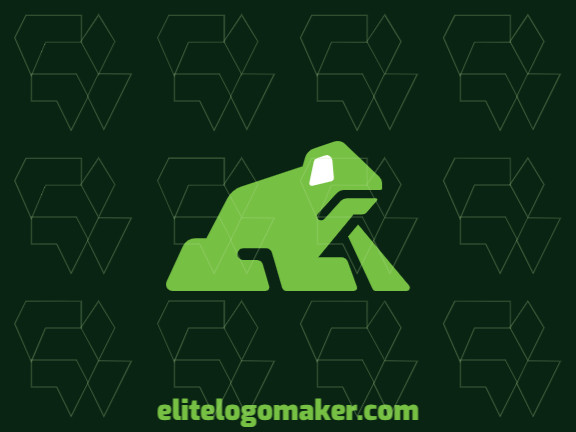 Animal logo in the shape of a frog with black and green colors, this logo is ideal for various types of business.