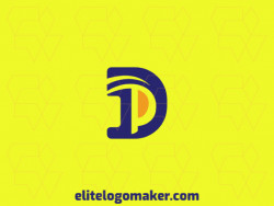 """Create a memorable logo for your business in the shape of a letter """"D"""" combined with a letter """"P"""" with initial letter style and creative design."""