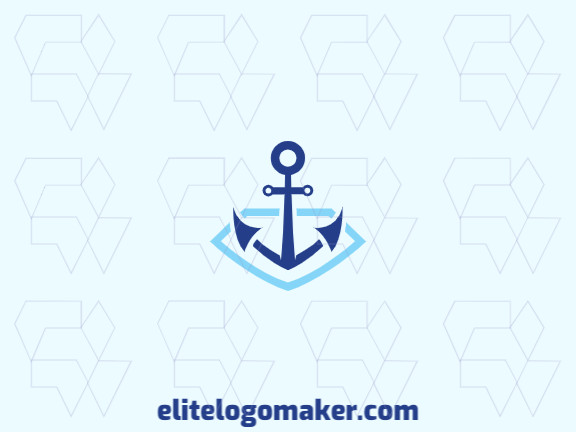 Customizable logo in the shape of a diamond combined with an anchor, with creative design and abstract style.