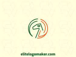 """Modern logo in the shape of a dinosaur combined with a letter """"D"""" with professional design and monoline style."""