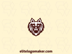 Great logo in the shape of a dog head with abstract design, easy to apply in different media.