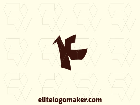 """Ideal logo for different businesses, in the shape of a dog combined with a letter """"K"""", with creative design and minimalist style."""