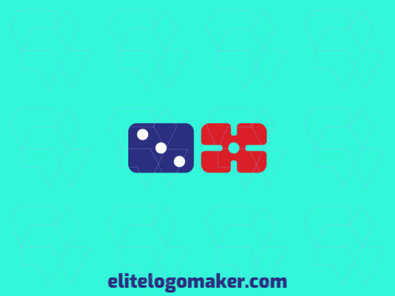 Vector logo in the shape of a domino combined with a crosshair with a simple design.