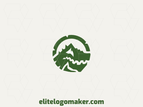 Ideal logo for different businesses in the shape of a dragon, with creative design and illustrative style.
