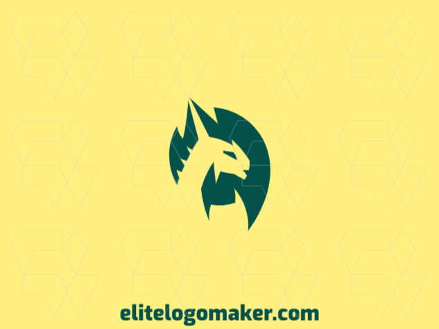 Logo in the shape of a dragon with green color, this logo is ideal for different business areas.