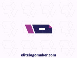 Professional logo in the shape of a drawer combined with an eraser, with creative design and abstract style.