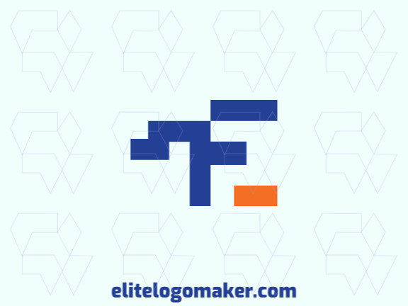 """Minimalist logo in the shape of a letter """"E"""" combined with a letter """"F"""", with creative design."""