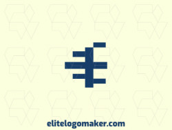 "Create your own logo in the shape of a letter ""E"" with an initial letter style and blue color."