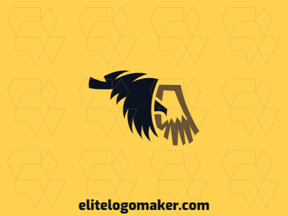 Animal logo in the shape of a flying eagle with black and brown colors, this logo is ideal for various types of business.