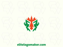 Create a memorable logo for your business in the shape of an elf with abstract style and creative design.