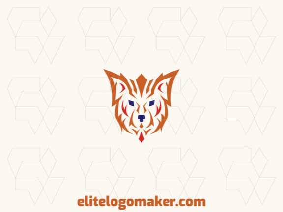 Ideal logo for different businesses in the shape of a fox with creative design and abstract style.