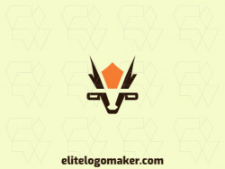 Create a memorable logo for your business in the shape of a goat with a minimalist style and creative design.