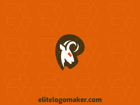 Ideal logo for different businesses in the shape of a goat, with creative design and abstract style.