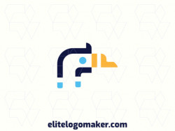 Customizable logo in the shape of a goose, with creative design and minimalist style.