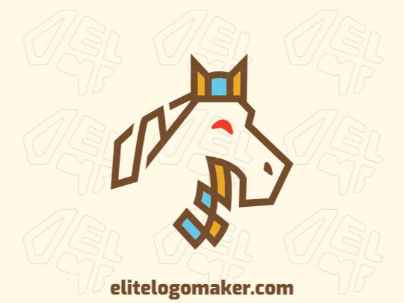 Logotipo moderno  com a forma de um cavalo com design profissional e estilo criativo.